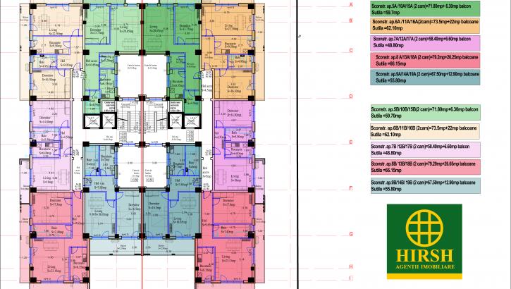 Plan etaj 1,2,3 Baneasa